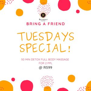Spa massage special and couples spa