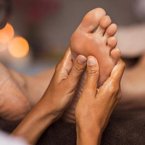 Reflexology massage at reconnect day spa